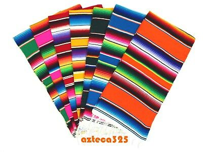 "Mexican Sarape Zarape Cochero (50"" x 24"")  in Assorted Colors"