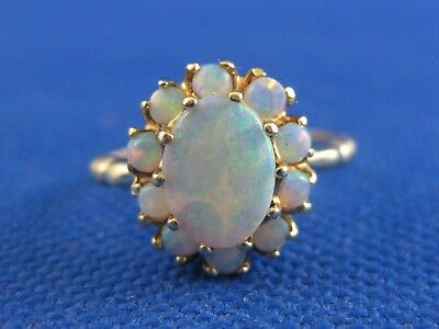 Vintage 10K Yellow Gold Opal Ring Size 5 3/4