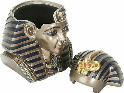 5.5 Inch Tall Egyptian King Tut Head Box Pharaoh Trinket Jewelry Box Decor