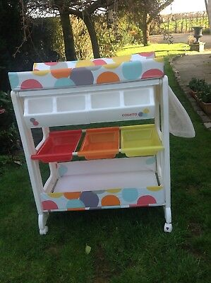 Casatto Baby Changing Unit With Integrated Baby Bath In Excellent Condition