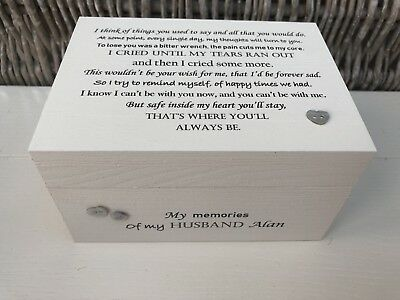 Personalised In Memory Of Box Loved One ~ HUSBAND ~ any Name Bereavement Loss