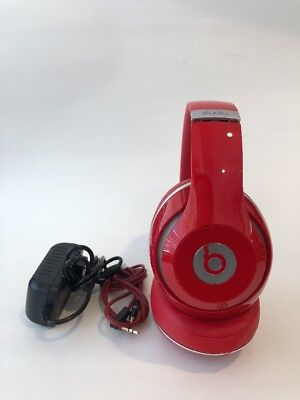 Authentic Beats by Dr. Dre Studio Wired Headphones - Red - Works Great