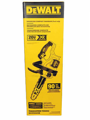 DEWALT DCCS620B 20V Max Compact Cordless Chainsaw Bare Tool w Brushless Motor