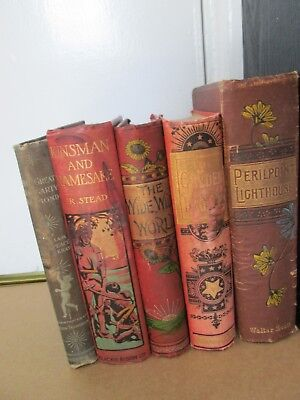 Vintage Book Lot Perilpoint Lighthouse Kinsman Namesake Golden Ladder Wide World
