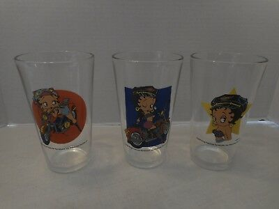 Lot Of 3 Betty Boop 2005 King Features Syndicate Drinking Glasses