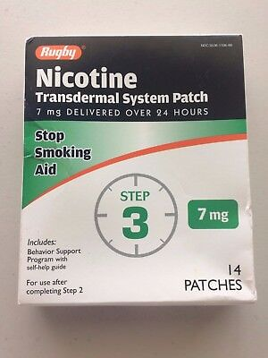 Rugby Nicotine Transdermal System Step 3 Patches 14 Patches 10/2018