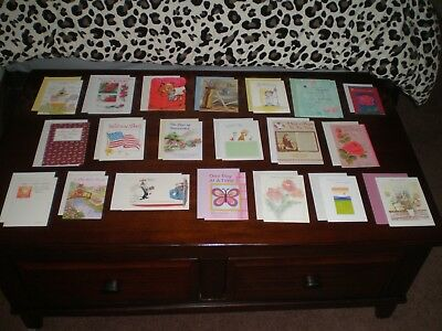 LOT OF 20 NICE QUALITY CARDS MIXED THEME GREETING CARDS NEW with Envelopes #12