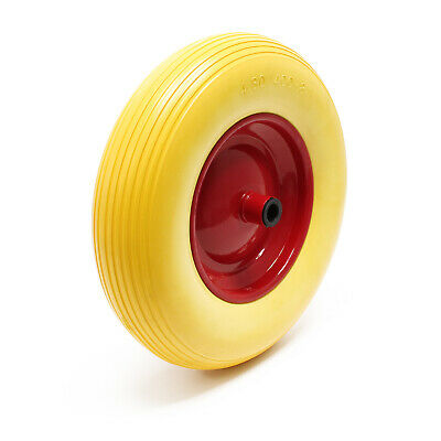 Puncture Proof PU Wheel for Wheelbarrow-Complete Size 4.80 / 4.00-8