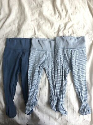 Bundle H&m 4-6 3-6 6-9 Months Footed Trousers Leggings X3