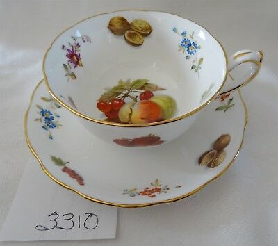 HAMMERSLEY England Cup & Saucer Fruit Nuts peach cherry grapes