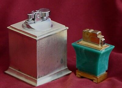 Pair of desk antique lighters with avongard design, collectors dream
