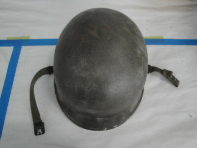 Wwii Ww2 Us Army M-1 Helmet Fixed Bale Front Seam In Very Good Condition