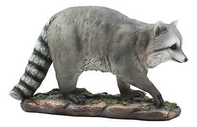 "Large Raccoon Statue 16""L Wild Life Novelty Fine Resin Figurine Collection"