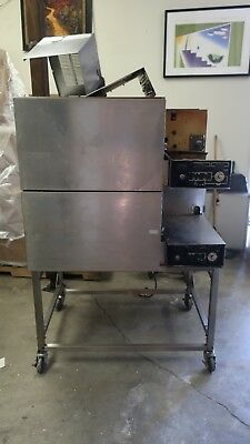 Lincoln Impinger Pizza oven Model 1116 Double Stack Conveyor Natural Gas, 18""