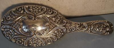 Art Nouveau Sterling Silver Ladies Hair Brush Gothic Handle Hallmarked Chester