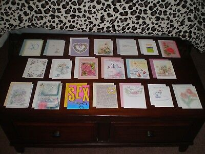 LOT OF 20 NICE QUALITY CARDS MIXED THEME GREETING CARDS NEW with Envelopes #13