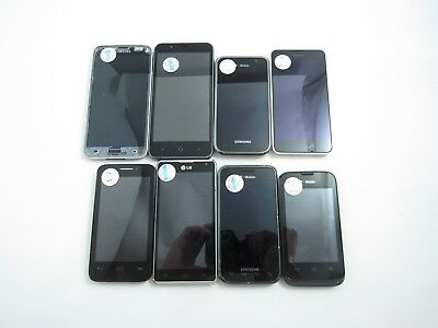 Lot of 8 Assorted GSM Phones Check IMEI 4C-559