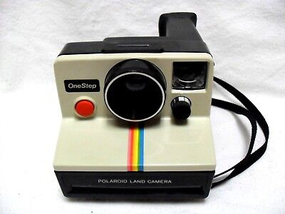 Vintage Polaroid One Step Rainbow Sx70 Type Instant Film Camera. Tested, Working