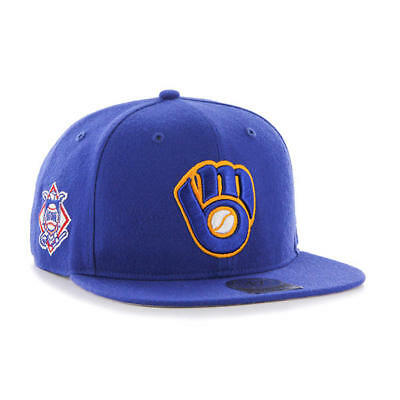 d1784cbe098 Milwaukee Brewers  47 Brand MLB Snapback Hat Cap - Sure Shot - Flat Brim  Glove