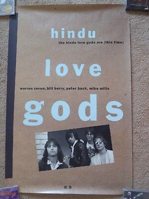 REM - Hindu Love Gods USA promo Poster For LP with Warren Zevon.