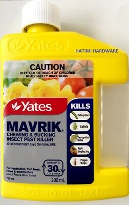 Yates Mavrik Chewing & Sucking Insect Pest Killer 200ml
