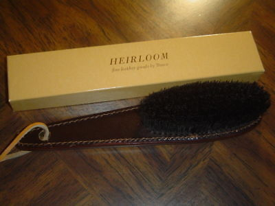 Vintage 1980's Bosca Leather Handled Clothes Brush/No longer made - New In Box!