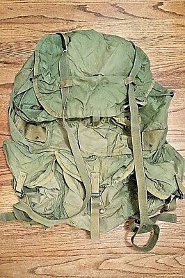 Used Large Alice Pack Combat Field Hunting Rucksack OD Green No Frame Or Straps