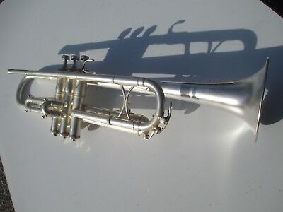 King Liberty Model Silver Plated Trumpet  Circa 1937  Excellent Original Cond
