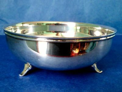 HANS JENSEN Denmark Bowl Vintage Silver Plated Three Legged Fish Hallmark