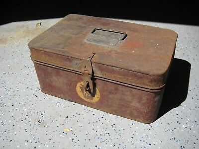 Antique Pennsylvania railroad tool box and tools, NO RESERVE!
