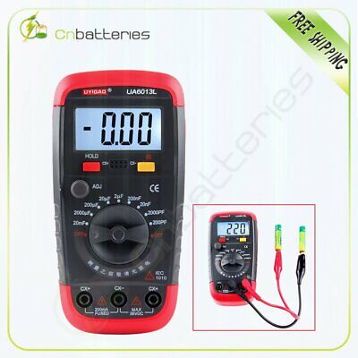 Digital Capacitor Capacitance Tester Meter With LCD Backlight Date Hold UA6013L