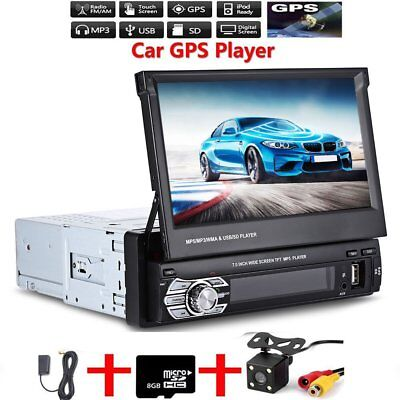1 din 7 car mp5 spieler autoradio mit gps navigation navi. Black Bedroom Furniture Sets. Home Design Ideas