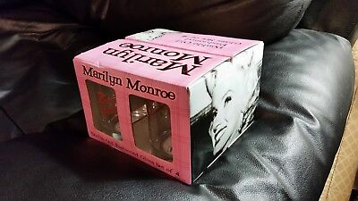 d5bd7b1022c45 Marilyn Monroe Double Old Fashioned Glass Set of (4) Bernard of Hollywood