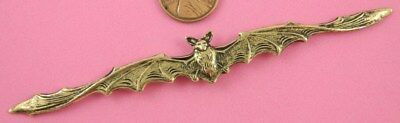 Vintage Design Antique Brass Long Winged Flying Bat - 1 Pc