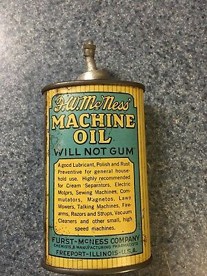 Lead Top Handy Oil Can Fw Mcness