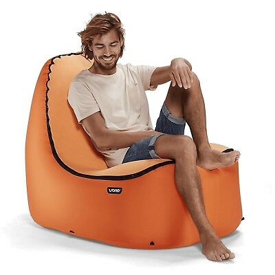 TRONO Inflatable Lounge Chair w/No-Strain Back Support (Pumpkin)