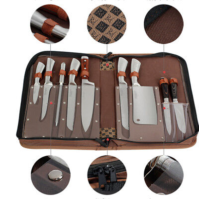 9 Pocket Chef Knife Roll Bag Knife Carry Case Cleaver Case Chef School Wallet