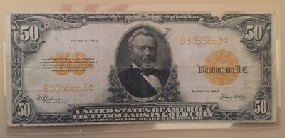 1922 $50 fifty dollar gold certificate