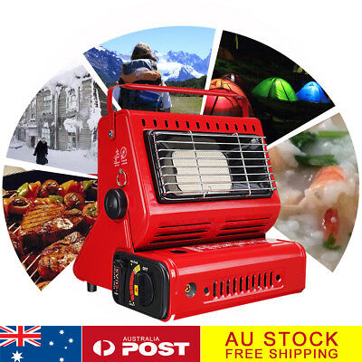 2in1 Gas Heater Camping Outdoor Butane Warmer Hiking Camp Tent Survival Cooker