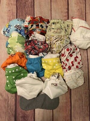 Lot Of 15 Pieces Cloth Diapers Baby Many Designs