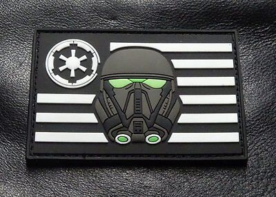 Stormtrooper USA Flag Star Wars Rogue Morale 3-D PVC Rubber Hook Patch