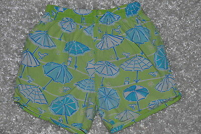 EUC girl LILLY PULITZER signature fabric green shorts size 3T 3