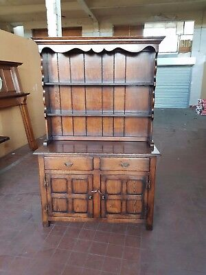 Antique/reproduction Oak Country Farmhouse Dresser By Brights Of Nettlebed