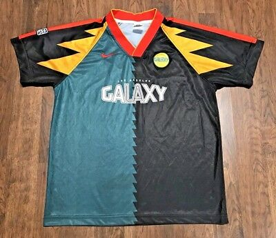 20ac578ee8d ... long sleeve training jersey size l  vintage rare los angeles la galaxy  nike mls soccer team jersey adult large l
