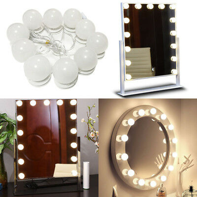 Vanity LED Mirror Light Bulbs Kit for Cosmetic Makeup Dressing Hollywood Style
