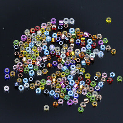 20g 2mm Color Mini Round czech Glass seed spacer beads jewelry making Kids DIY