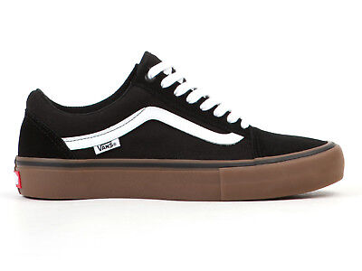 b64cda1b03 Vans Old Skool Pro Shoes Black White MediumGum