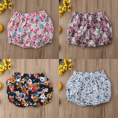 Summer Beach Infant Toddler Baby Girls Floral Shorts Ruffle Pants Bloomers 6-36M