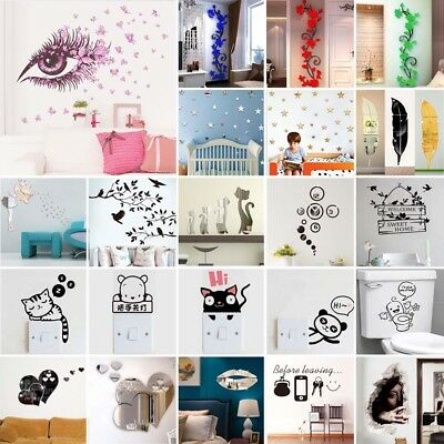 Removable Art Vinyl Wall Stickers Home Decor Mural Decal Kids Room Bathroom Lot