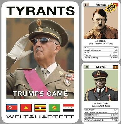 Tyrants Trump Game english Trumpgame Tyrant Card Game